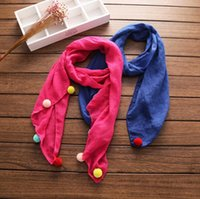 baby boy scarves - Cotton scarf Pure Cute Pompoms Baby Boys Girls Kids Children s Christmas Gift colors autumn winter new arrival