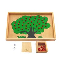 apple box wooden toys - Montessori Material Wooden Apple Tree Box Toy Montessori Game Toys Educational Brain Training Play Learning Kids Toys