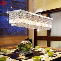 art deco chrome - European modern restaurant high quality chandelier crystal lamp led a large rectangular living room with crystal lighting