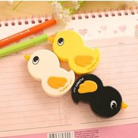 Wholesale Stationery Papeleria Corretivo Escolar Fita Kawaii Duck Cartoon Animals Correction Tape Fluid School Office Supply K6925