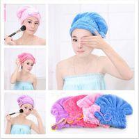 Wholesale Hot Lady Microfiber Towel Quick Dry Hair Drying Bowknot Wrap Hat Cap Spa Bathing