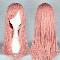 bianchi size - CM Long Straight HitmanReborn Bianchi Anime Lovely Pink HotSelling Cosplay Wig