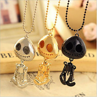aliens gold necklace - 3 colors specific UFO big eyes skull pendant necklace alien skeleton pendant necklace for lovers men women