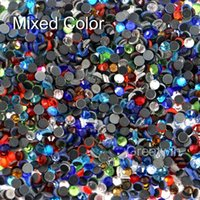 Wholesale SS16 Mixed Color DMC Hotfix Flatback Hot Fix Crystal Rhinestone DIY Iron On Garment Stones Pack