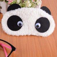 Wholesale 2014 New New Arrival Freeshipping Bangtan Boys Super Soft Plush Panda Eye Mask Hair Sedative Sleep Goggles Student Gifts