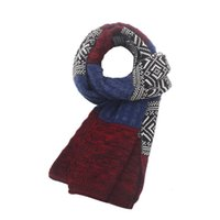 Wholesale New brand Fashion Winter Classical Men Scarf Long Knitting Scarves Shawls Hot
