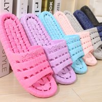 cheap slippers - 2016 hot sale Indoor footware hollow outdesign pur color PVC Material cheap plastice slippers