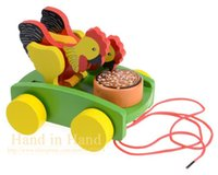 beat maker - Classic Toys Noise Maker Baby Toy Colorfuly Cute Chicken Toy With Rope Beat Noise Brinquedos Wooden Juguetes Year Children Kids Toy