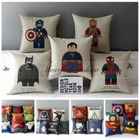 Wholesale 49 Style creative cartoon pillowcase pillow case cover harry potter star wars pillowcase The Avengers superhero pillow cover M469