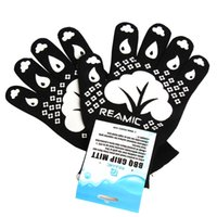 bbq electric grill - Reamic BBQ skid resistant and flame retardant multifunctional barbecue microwave oven baking gloves A pair HW3ST17