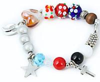 Cheap Freeshipping The vogue diy handicraft string bead bracelet elegant wood bead metal alloy azure stone lady's bracelet wholesales