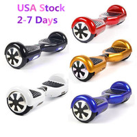 Wholesale USA Stock Smart Hoverboard NO Bluetooth Smart Balance Unicycle Two Wheels Electric Standing LED Scooter inch Skateboard Drop Shipping