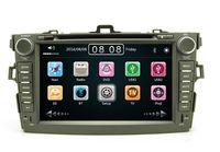 Precio de Consola gris-2 din 7 pulgadas de coches reproductor de DVD de navegación GPS con radio Bluetooth para Toyota Corolla 2007-2012