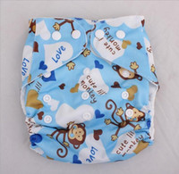 Wholesale 2016 Washable Baby Cloth Diaper Cover Waterproof Cartoon Owl Baby Diapers Reusable Cloth Nappy Suit High quality fashion