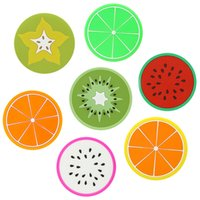 best drink coasters - 2016 Best Selling Colorful Cute Silicone Fruits Coaster Novelty Cup Cushion Holder Home Dining Room Decor Drink Placement Mat Styles
