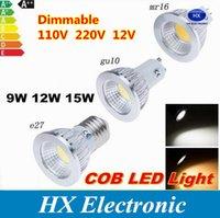 12v mr16 down light - Dimmable CREE E14 GU10 MR16 E27 cob Led Bulb Light W W W Led Spot Bulbs down lights Lamp AC V V