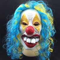 animals party supplies - Party Masks Festive Party Supplies Halloween Funny Clown Grimace Latex Mask Spookier Masquerade Mask Factory