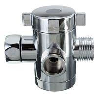 bath diverter valve - Sliver Shower Head Diverter Valve Inch Three Way T adapter Valve Plastic Without Seat Fit For Bath