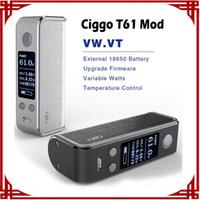big lock box - big sale Authentic CigGo T61 Box Mod E Cigarette Mod VW VT Mod With OLED Screen Lock System Black Silver vs ciggo t100w