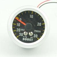 Wholesale mm carbon Tattoos Car turbo boost gauge vacuun gauge pointer meter unit in hg PSI PRESS GAUGE f