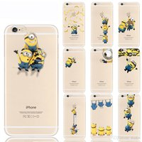 apple phone tv - Cartoon TV Despicable Me Minions Phone Case for iPhone s Iphone C With Styles Despicable Me Yellow Minions Design TPU