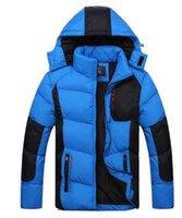 Wholesale Outdoor sports Men s outdoor sports jackets High Quality Men Warm Down Jacket Fashion Hooded Winter Jacket Men s ski suit