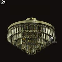 artistic ceiling - High end villa living room dining bedroom artistic fashion round crystal lamp Ceiling Lights Upscale atmosphere free delivery