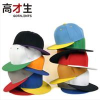 Cheap Wholsale plain flat snapback hats top quality football skateboard baseball blank caps
