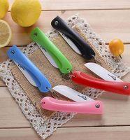 Wholesale Ceramic fruit knife folding ceramic knife peel knife folding fruit knife knife portable