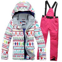Wholesale new high quality winter women outdoor ski suit ski jacket and pants windproof waterproof thermal