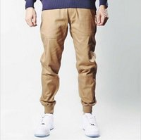 Wholesale mens urban clothing M XL unisex khakis dress jogger pants fashion high quality skinny publish black navy green khaki joggers