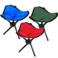 Wholesale Folding Outdoor Camping Hiking Fishing Picnic Garden Quality BBQ Stool Tripod Three feet Chair Seat