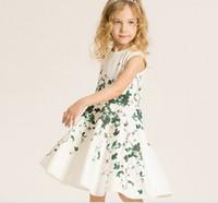 autumn leaves color - 2016 Girls Dresses TUTU Dress Flora Leaves Childrens Clothing Girls Princess Dress Girls Party Dress K7945