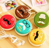 Wholesale FreeShip cm D Cartoon Mustache beard Macaroon Tinplat Gift Earbuds Headphone Earphone Box Cable Jewelry Coin Purse Storage Tin Box