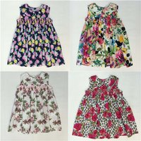 babies lemons - Girls Sun Dresses Discount Children Printed Flower Dress With The Little Baby Girls Clothing Girls England Style Skirt Outside Dresses
