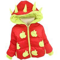 baby apple hat - Fashion modeling animal horn even hat Litter apple coat Small children and babies winter sport coat infant cotton webbing cap children coat