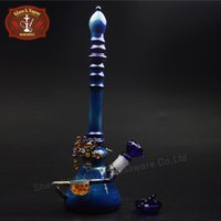 Wholesale USA Color Big Glass Beaker Bong Inch High Durable Glass Bongs Water Pipes with Joint for Dry Herb HXH