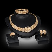 african american designers - The most classic style K Gold Plated Vintage Jewelry Chunky Necklace Chain and Bangle Set Designer Jewelry DHW122