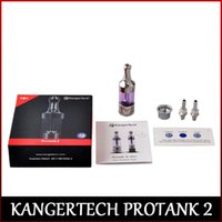 100% original Kang Protank 2 Clearomizer Kangertech Pro tanque 2 con piezas de repuesto Kang Protank 2 atomizador de cristal DHL freeshipping