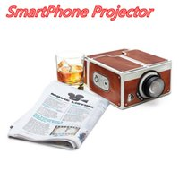 Wholesale Portable DIY Smartphone Projector Cardboard Homemade Mobile Phone Projectors Camera for iphone Samsung Android Cellphone MOQ