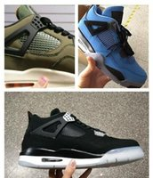 Wholesale Top Quality With Box Air Retro IV Eminem x Carhartt Denim Black Undefeated Encore Blue Olive Green Man Version Basketball Shoes
