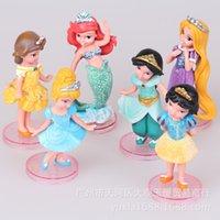 belle doll cake - 6 gold powder with Diamond Princess white hair foundation Xuechang Mermaid Belle Cinderella cake