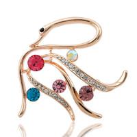 alloy swans diamond - Korean temperament elegant retro fashion boutique Korean color diamond brooch female Swan factory direct cm