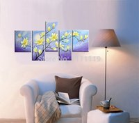 abstract of paper - Hand Painted Canvas Picture Wall Art Painting Yellow Flower Pictures On Canvas Group Of Oil Paintings For Room Decor Painting