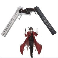 anime cosplay accessories - Hot Unique Popular HELLSING Alucard Cosplay BLACK WHITE PU Resin Gun import Accessories Prop