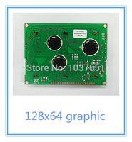 al por mayor gráficos de serie-2pcs 12864 LCM pantalla LCD 128X64 ST7920 módulo gráfico de la fuente china SPI azul serie / 3.3v verde / 5v LG128645