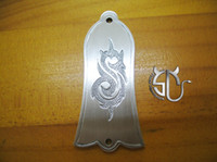 Wholesale rock band slipknot logo handmade aluminum alloy truss rod cover accessory for electric guitars