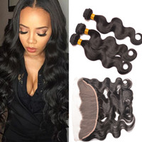 Wholesale 7A Full Frontal Lace Closure x4 Ear To Ear Lace Frontal With cheap Hair Brazilian Body Wave Frontal Closure Human Hair Weave