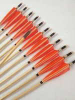 Wholesale 12pcs new wooden arrows archery bow hunting ground target point