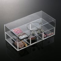 acrylic makeup drawers - High Quality New Arrival Acrylic Makeup Organizer Cosmetic Case Lipstick Holder Box Make Up Clear Storage Box Drawers Tool Kit MN C